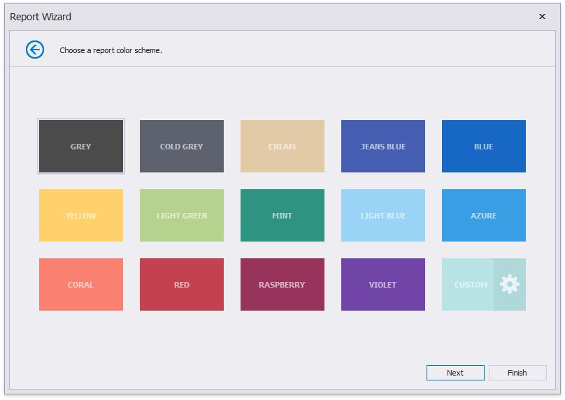Choose a Report Color Scheme | DevExpress End-User Documentation