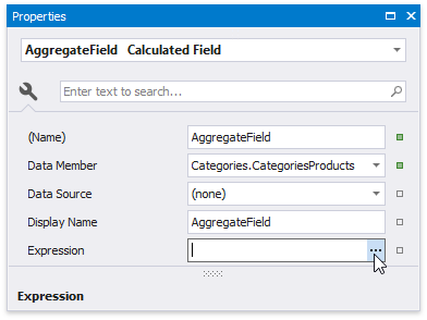 Calculate an Aggregate Function | DevExpress End-User