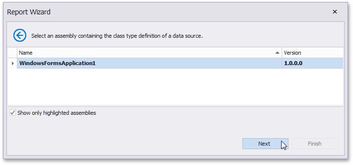 Select an Assembly | DevExpress End-User Documentation