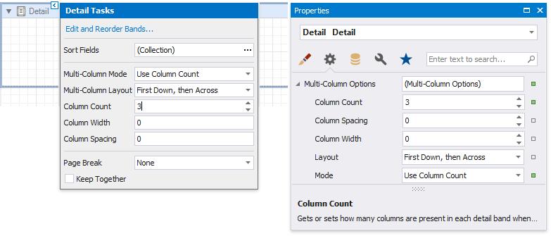 Create a Multi-Column Report | DevExpress End-User Documentation