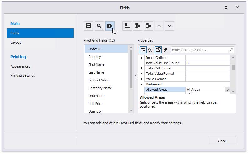 Link a Chart and a Pivot Grid | DevExpress End-User