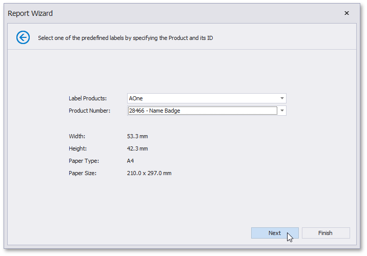 Select the Label Type | DevExpress End-User Documentation