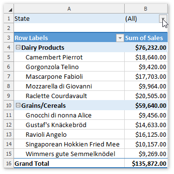Filter a Pivot Table | DevExpress End-User Documentation