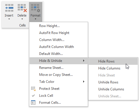 Show and Hide Columns and Rows | DevExpress End-User Documentation
