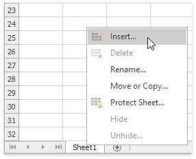 Creating a Chart Sheet | DevExpress End-User Documentation