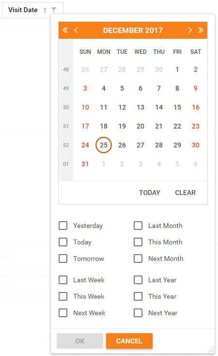 Date Range Header Filter   DevExpress End-User Documentation
