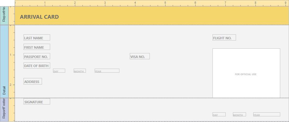Create an Interactive E-Form | DevExpress End-User Documentation