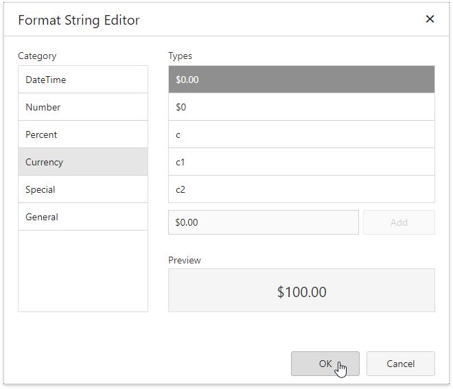 Format Data | DevExpress End-User Documentation