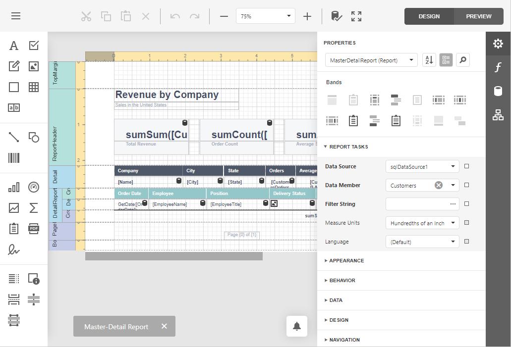 Report Designer | DevExpress End-User Documentation