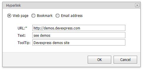 Bookmark and Hyperlink | DevExpress End-User Documentation