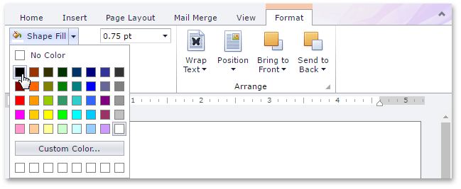 Add, Change or Delete a Text Box Fill   DevExpress End-User