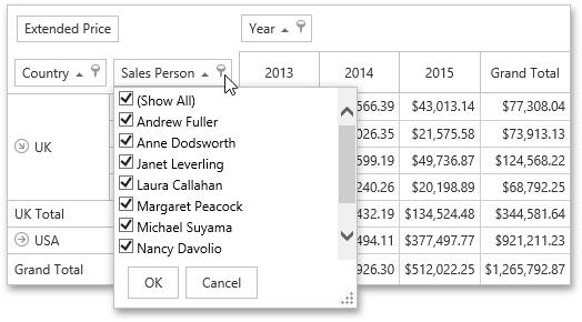 Invoke a filter popup window devexpress end user documentation invoke a filter window from a field list sciox Images
