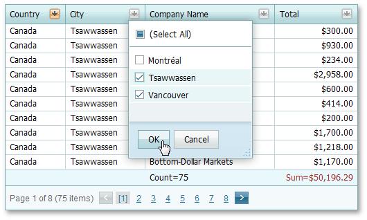 Filtering Data   DevExpress End-User Documentation
