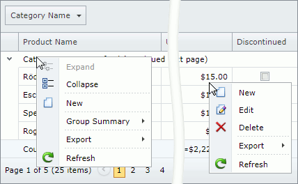 Context Menu | DevExpress End-User Documentation