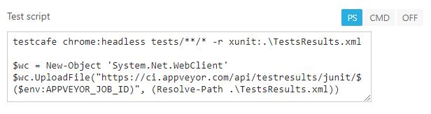 Integrate TestCafe with AppVeyor | TestCafe