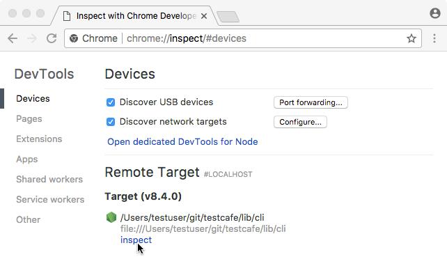 Debug Tests in Chrome Developer Tools | TestCafe
